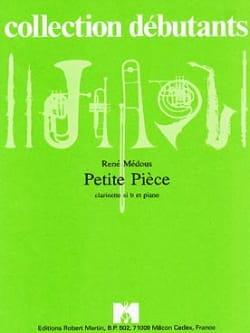 Petite pièce - René Médous - Partition - Clarinette - laflutedepan.com