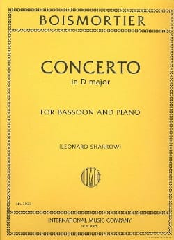 Joseph Bodin de Boismortier - Concerto en ré majeur op. 26 pour basson - Partition - di-arezzo.fr