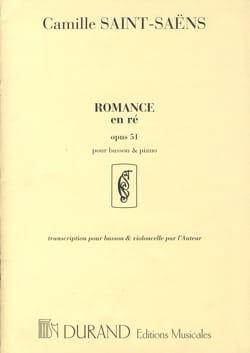 Romance en Ré op. 51 SAINT-SAËNS Partition Basson - laflutedepan