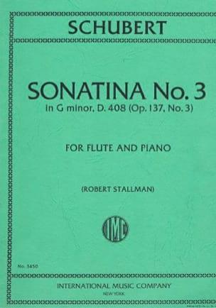 Sonatina n° 3 in g minor D. 408 op. 137 n° 3 - Flute piano - laflutedepan.com