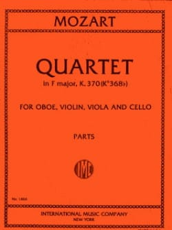 Quartet in F major KV 370 Parts -Oboe violin viola cello - laflutedepan.com