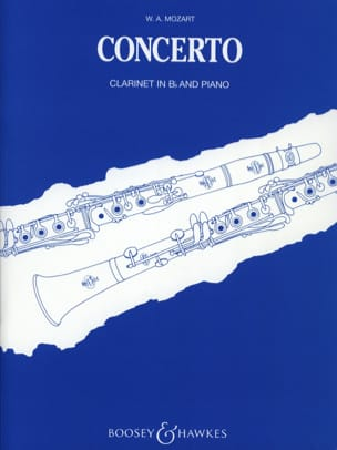 Concerto KV 622 - Clarinet Bb and piano MOZART Partition laflutedepan