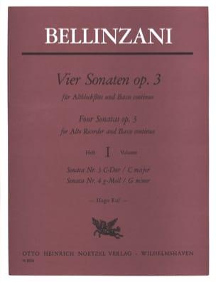 4 Sonaten op. 3 - Heft 1 - Altblockflöte u. BC laflutedepan