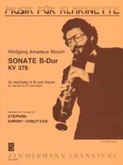 Wolfgang Amadeus Mozart - Sonate B-Dur KV 378 – Klarinette Klavier - Partition - di-arezzo.fr