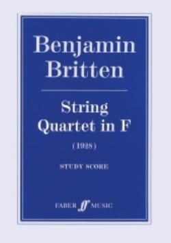 Benjamin Britten - String quartet in F (1928) – Score - Partition - di-arezzo.fr
