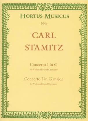 Carl Stamitz - Concerto n° 1 sol majeur - Cello piano - Partition - di-arezzo.fr