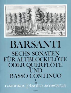 Francesco Barsanti - 6 Sonaten f. Altblockflöte (Querfl.) - Bd. 1 - Partition - di-arezzo.fr