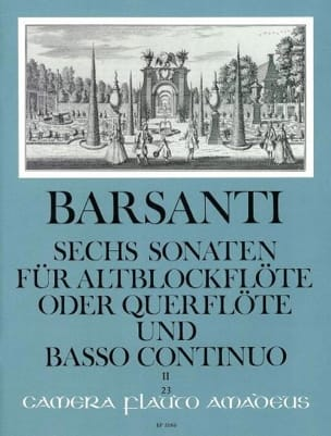 Francesco Barsanti - 6 Sonaten f. Altblockflöte Querfl. - Bd. 2 - Partition - di-arezzo.fr