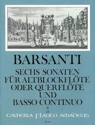 6 Sonaten f. Altblockflöte Querfl. - Bd. 2 laflutedepan