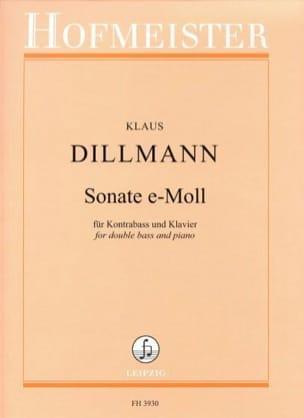 Sonate E minor - Contrabass-piano Klaus Dillmann laflutedepan