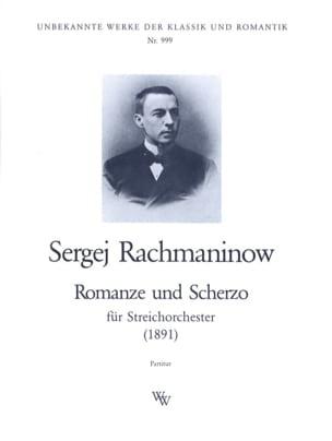 RACHMANINOV - Romanze und Scherzo - Partitur - Sheet Music - di-arezzo.com