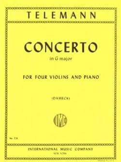 Georg Philipp Telemann - Concerto in G Major - Partition - di-arezzo.fr