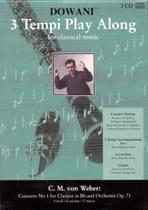 Carl Maria von Weber - Concerto clarinette n° 1 op. 73 + 2 CD - Partition - di-arezzo.fr