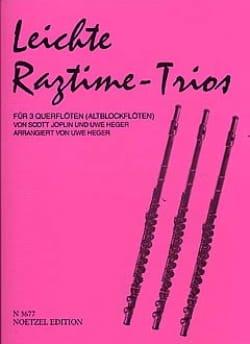 Joplin Scott / Heger Uwe - Leichte Ragtime-Trios - 3 Flöten (Altblockflöten) - Sheet Music - di-arezzo.co.uk