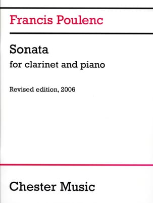 Francis Poulenc - Sonata for clarinet and piano - Sheet Music - di-arezzo.co.uk