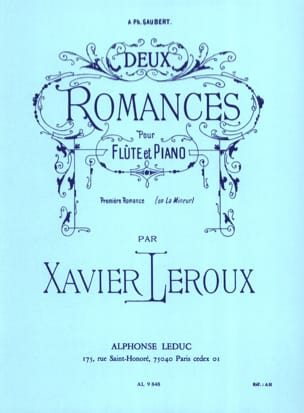Xavier Leroux - Two Romances - N ° 1 In the Minor - Sheet Music - di-arezzo.co.uk