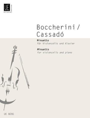 Minuetto - BOCCHERINI - Partition - Violoncelle - laflutedepan.com
