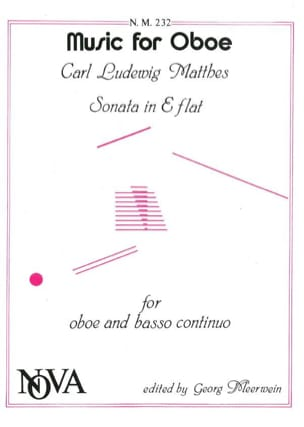 Carl Ludwig Matthes - Sonate En Mib Maj. - Hautbois et B.C. - Partition - di-arezzo.fr