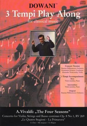 VIVALDI - Les 4 Saisons - Le Printemps, op. 8 n° 1 RV 269 - CD - Partition - di-arezzo.fr