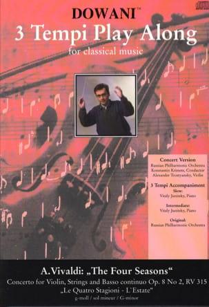 VIVALDI - Les 4 Saisons - L'été, op. 8 n°2 RV 315 - CD - Partition - di-arezzo.fr