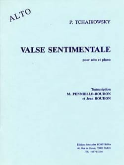 Piotr Illitch Tchaïkovski - Valse sentimentale – Alto - Partition - di-arezzo.fr