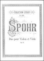 Louis Spohr - Duet for violin and viola op. 13 - Sheet Music - di-arezzo.com