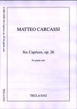 6 Caprices op. 26 - Matteo Carcassi - Partition - laflutedepan.com