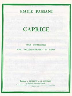 Caprice - Emile Passani - Partition - Contrebasse - laflutedepan.com