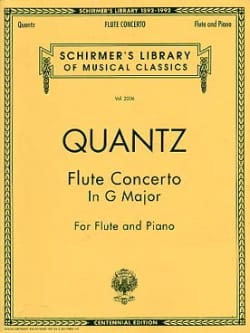 Johann Joachim Quantz - Concerto in G major – Flute piano - Partition - di-arezzo.fr