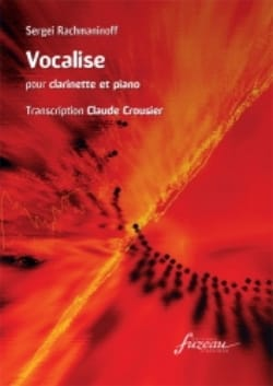 RACHMANINOV - Vocalise op. 34 n ° 14 - Clarinet - Sheet Music - di-arezzo.co.uk