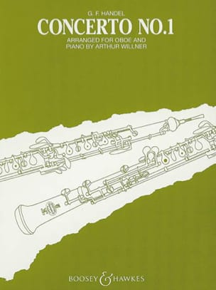 HAENDEL - Concerto No. 1 - Oboe Piano - Sheet Music - di-arezzo.co.uk