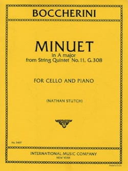 BOCCHERINI - Minuet in A maj. - Cello - Partition - di-arezzo.fr