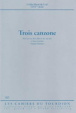 da Lodi Giulio Mussi - Three Canzone - Sheet Music - di-arezzo.co.uk