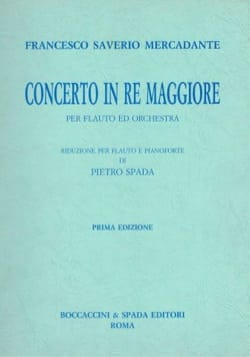 Saverio Mercadante - Concerto in re maggiore – flauto piano - Partition - di-arezzo.fr