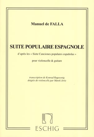 DE FALLA - Spanish Popular Suite - Cello Guitar - Sheet Music - di-arezzo.co.uk