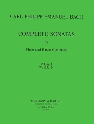 Carl Philipp Emanuel Bach - Complete sonatas Volume 1 - Flute et Bc - Partition - di-arezzo.fr