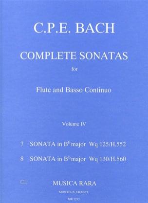 Carl Philipp Emanuel Bach - Complete sonatas Volume 4 - Flute Bc - Sheet Music - di-arezzo.co.uk