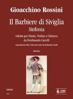 Il Barbiere Di Siviglia - Sinfonia ROSSINI Partition laflutedepan