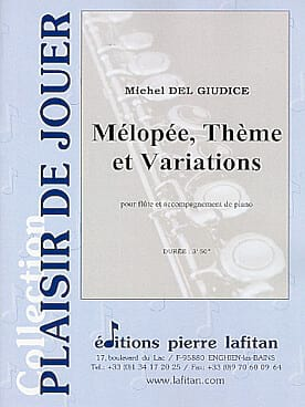 Michel Delgiudice - Melopée, Theme and Variations - Sheet Music - di-arezzo.com
