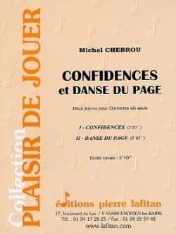 Michel Chebrou - Confidences et Danse du page - Partition - di-arezzo.fr