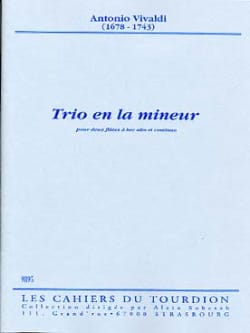 Antonio Vivaldi - Trio en la mineur –2 flûtes à bec alto et continuo - Partition - di-arezzo.fr