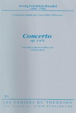 HAENDEL - Concerto op. 4 n° 6 - 3 Flûtes à bec - Partition - di-arezzo.fr