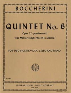Quintet n° 6 op. 57 posth. -Parts BOCCHERINI Partition laflutedepan