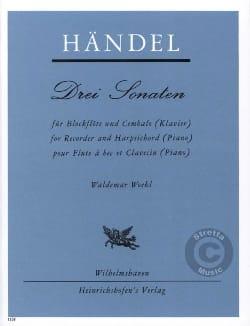 Georg Friedrich Haendel - 3 Sonaten – Blockflöte u. Cembalo - Partition - di-arezzo.fr