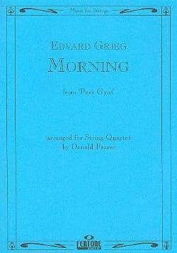 Morning - String Quartet - Edvard Grieg - Partition - laflutedepan.com