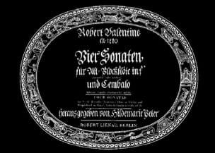 4 Sonaten - Altblockflöte u. Cembalo Robert Valentine laflutedepan