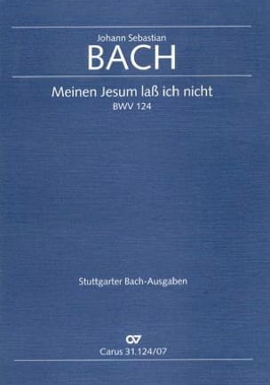 BACH - Cantate Meinen Jesum Lass Ich Nicht BWV 124 - Partition - di-arezzo.fr