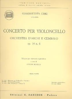 Giambattista Cirri - Concerto for violoncello op. 14 n ° 6 - Sheet Music - di-arezzo.com