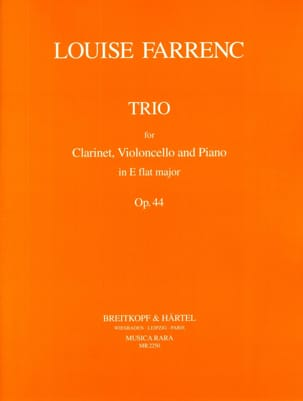 Louise Farrenc - Trio op. 44 E plana mayor - Clarinete violonchelo piano - Partitura - di-arezzo.es