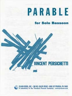 Parable for solo Bassoon Vincent Persichetti Partition laflutedepan